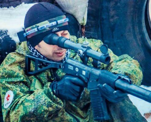 Комплект для военного лазертага